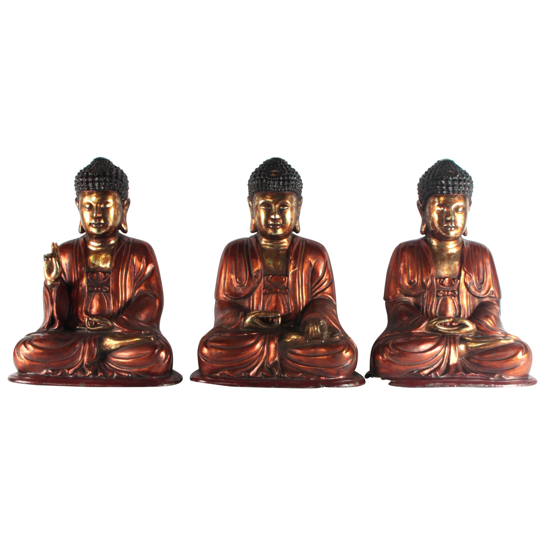 19th Century Bronze Asian 'Vietnam' Buddhas