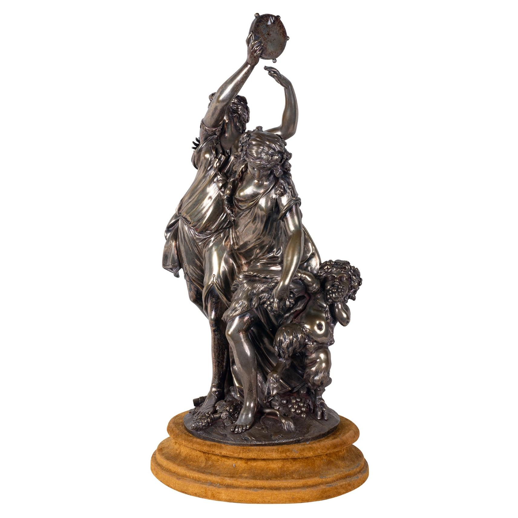 19th Century Bronze Bacchus Influenced Clodion Group