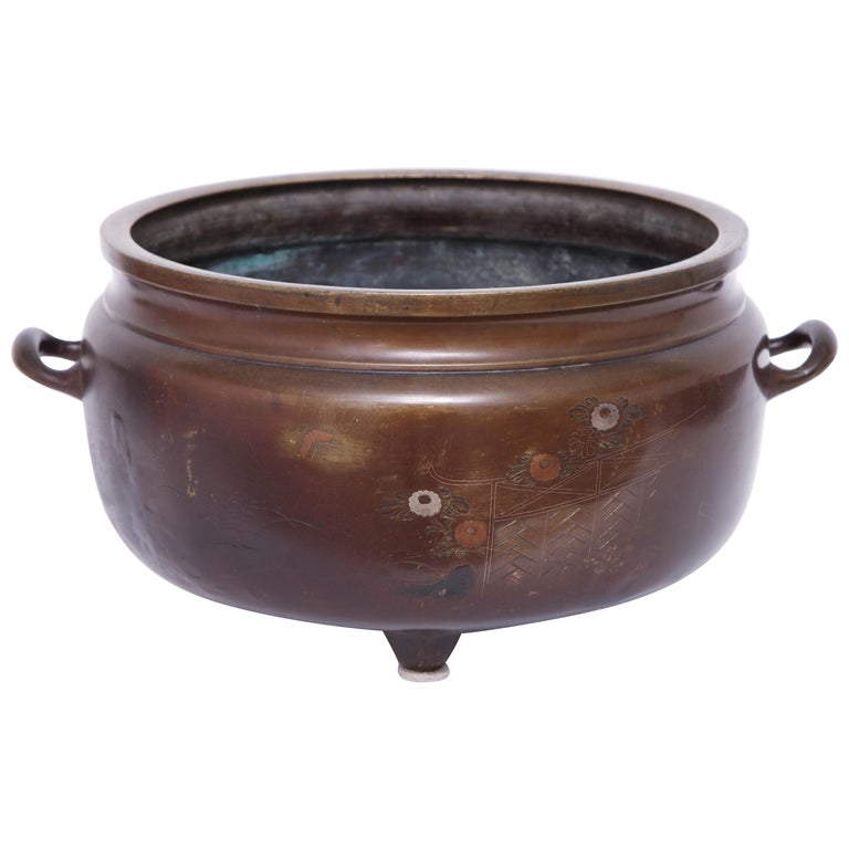 19th Century Bronze Bowl For Sale