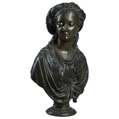 19th Century Bronze Bust After Boizot
