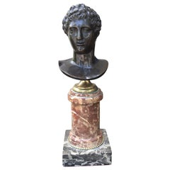 19th Century Bronze Bust of Caesar on Marble Base