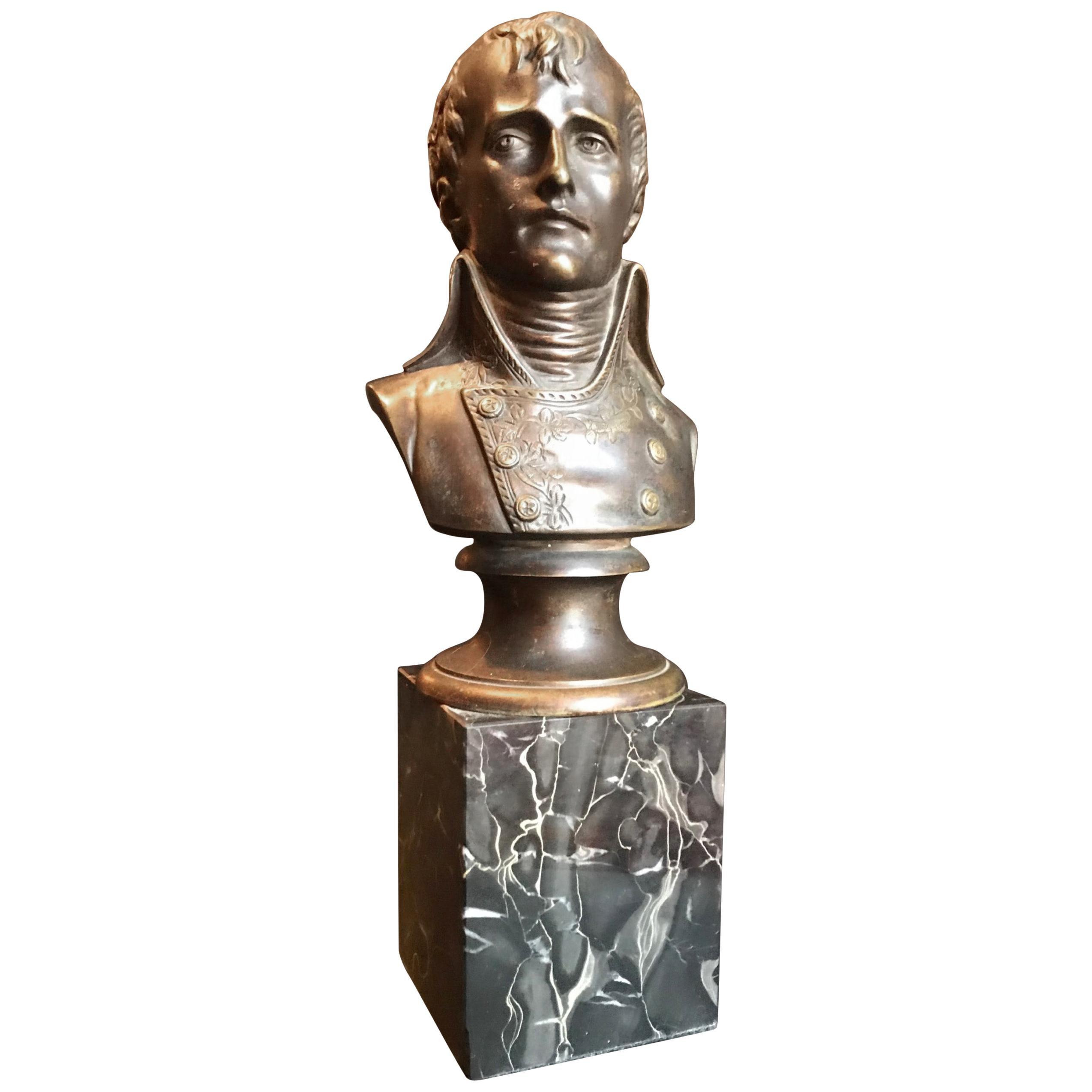 19th Century Bronze Bust of Napoleon I