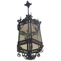 19th Century Bronze Chateau Lantern from France