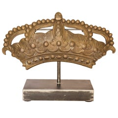 19th Century Bronze Crown Mold