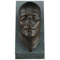 19th Century Bronze Death Mask of Napoleon I