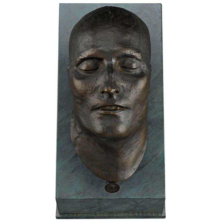 19th Century Bronze Death Mask of Napoleon I