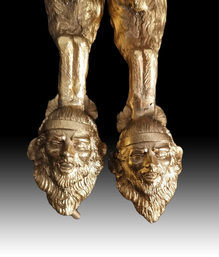19th Century Bronze Door Handles in Gilt Bronze In Good Condition In Madrid, ES