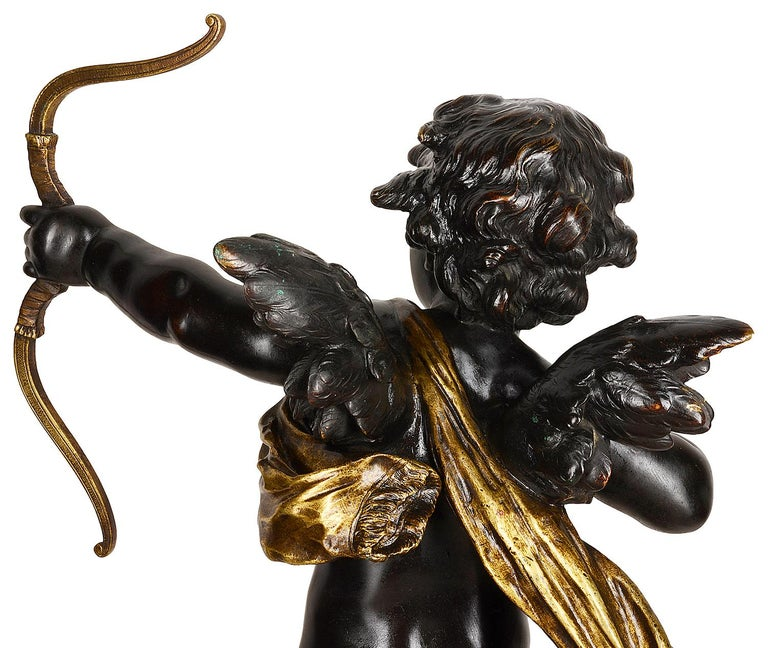 French 19th Century Bronze Eros, by Aug. Moreau For Sale