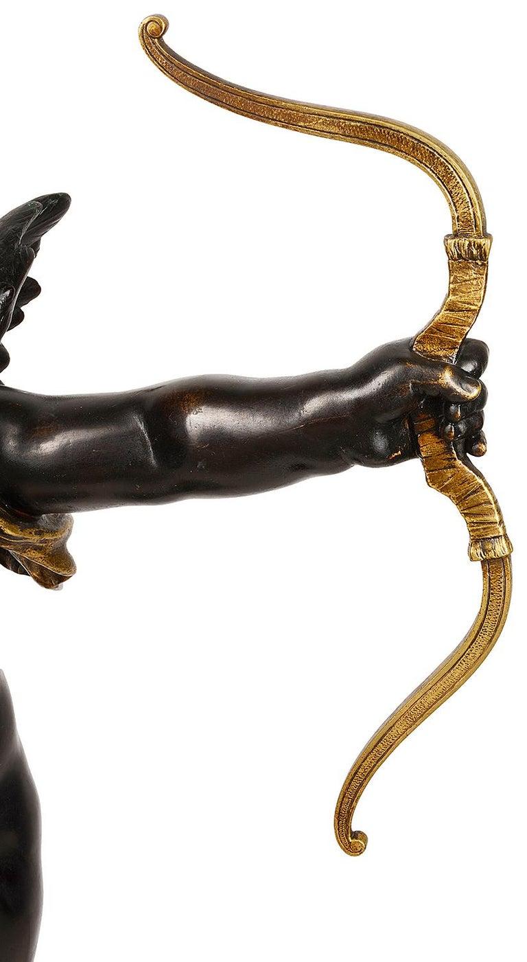 Gilt 19th Century Bronze Eros, by Aug. Moreau For Sale
