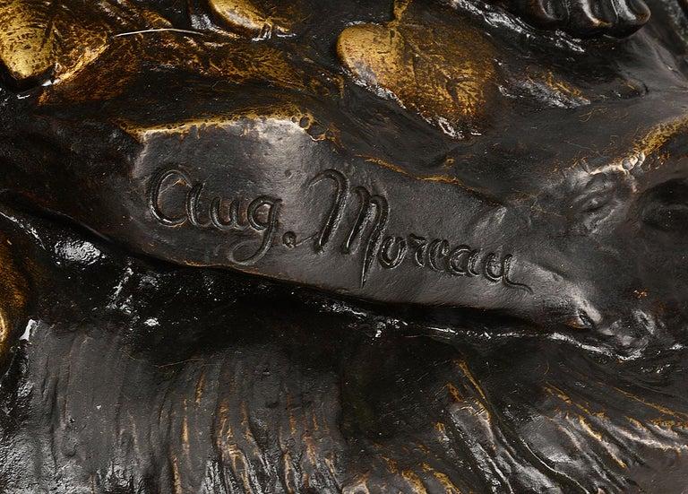 19th Century Bronze Eros, by Aug. Moreau For Sale 1