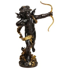 19th Century Bronze Eros, by Aug. Moreau