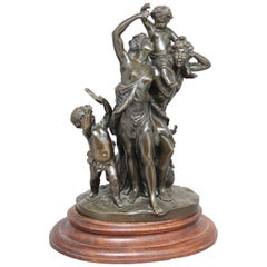 19th Century Bronze Figural Group