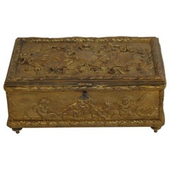 19th Century Bronze Gold-Plated Box