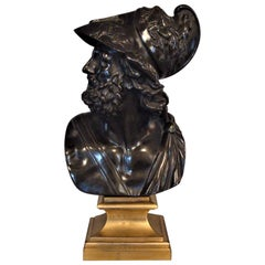 19th Century Bronze Grand Tour Bust of Ajax