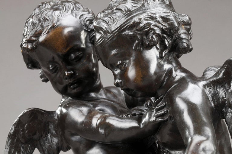 19th Century Bronze Group After Falconet For Sale 4