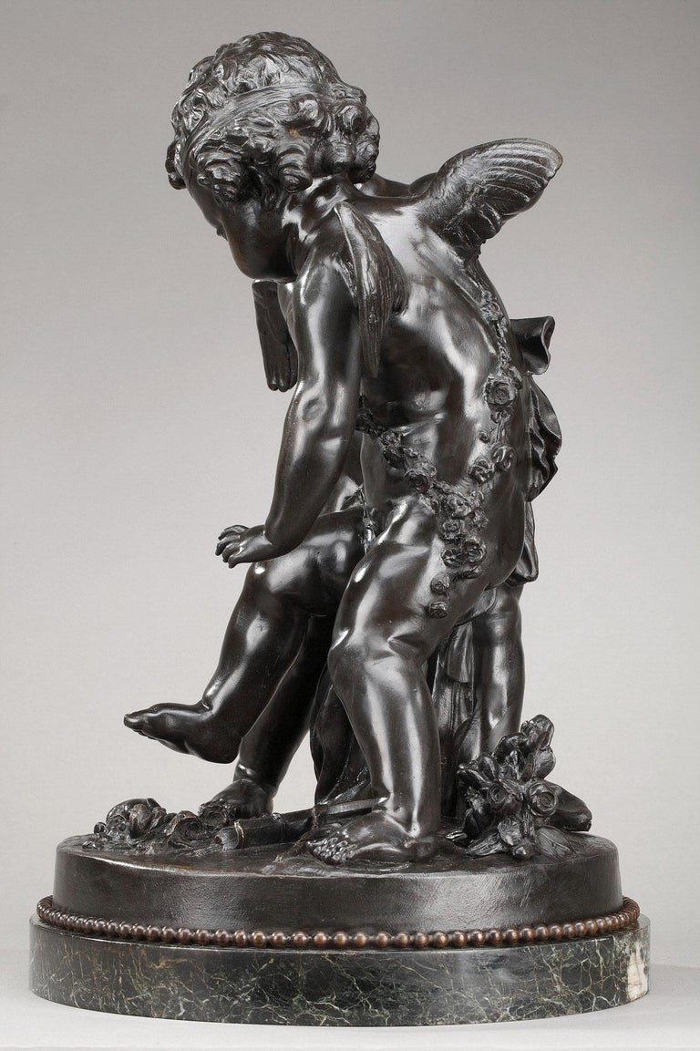 19th Century Bronze Group After Falconet For Sale 5