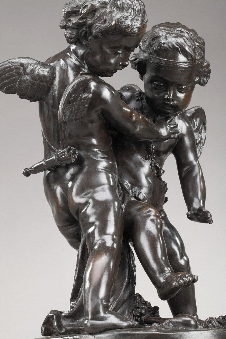 19th Century Bronze Group After Falconet For Sale 6