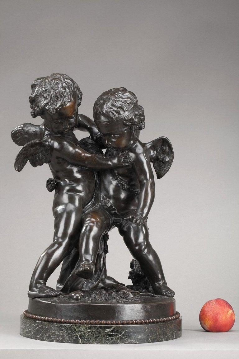 19th Century Bronze Group After Falconet For Sale 7