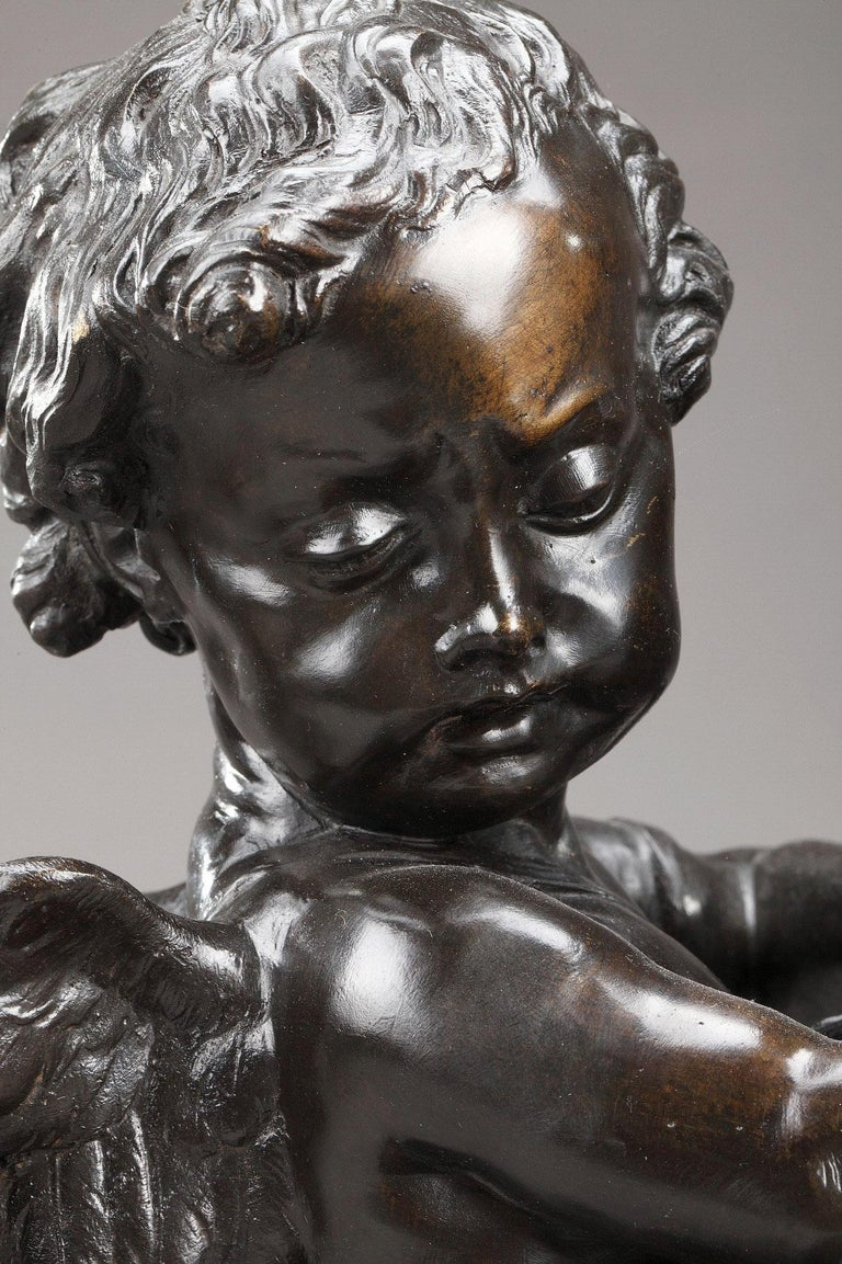 Louis XVI 19th Century Bronze Group After Falconet For Sale