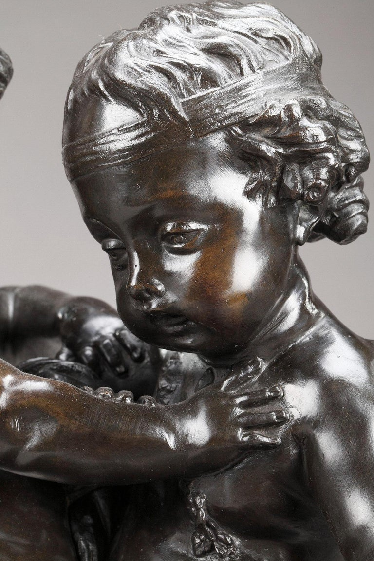 19th Century Bronze Group After Falconet In Good Condition For Sale In Paris, FR