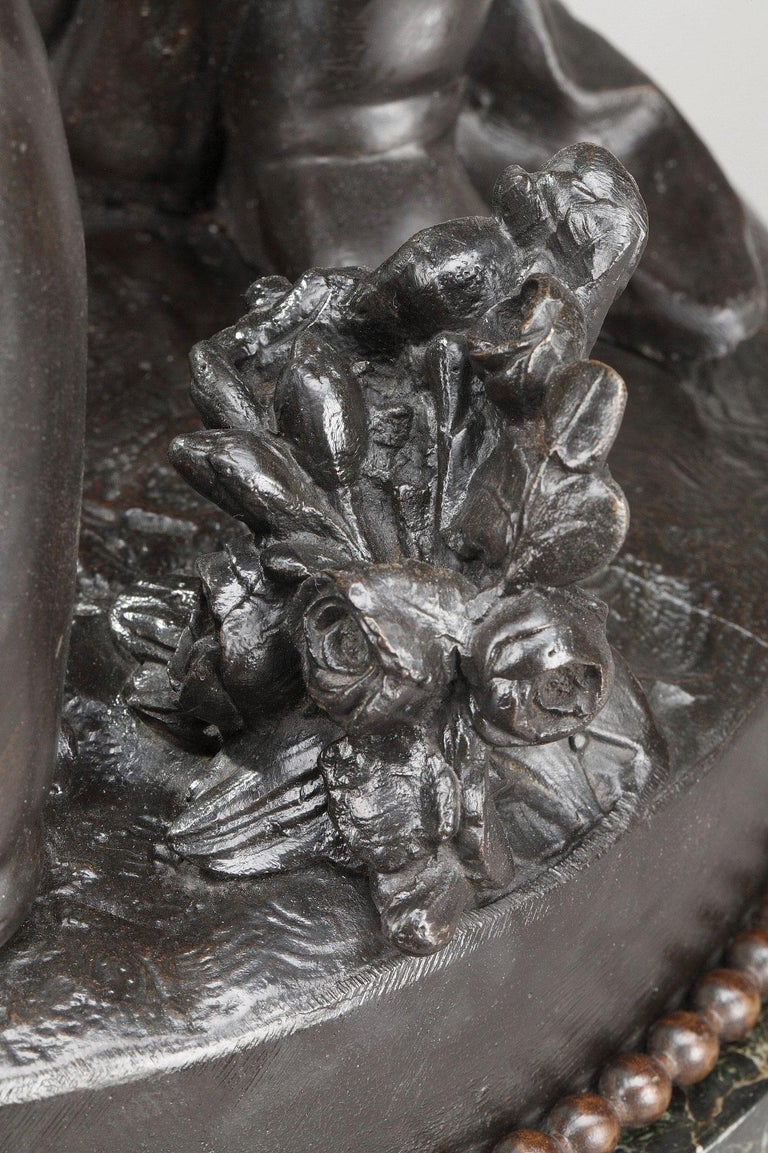 Marble 19th Century Bronze Group After Falconet For Sale