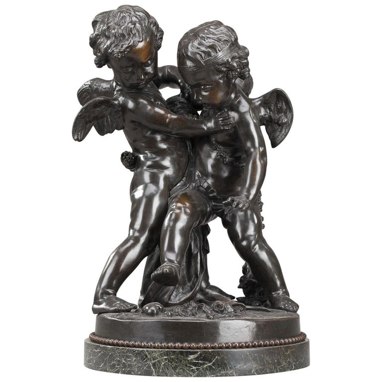 19th Century Bronze Group After Falconet For Sale