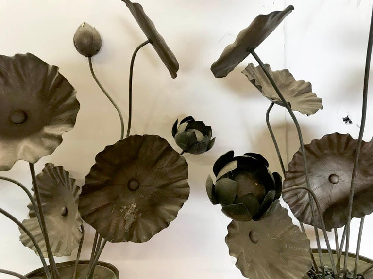 19th Century Bronze Japanese Temple Flowers For Sale 2