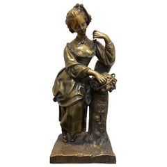 19th Century Bronze Lady