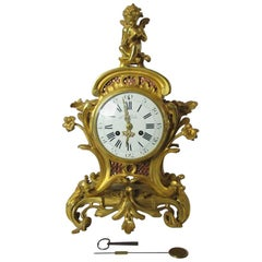 19th Century Bronze Mantelclock