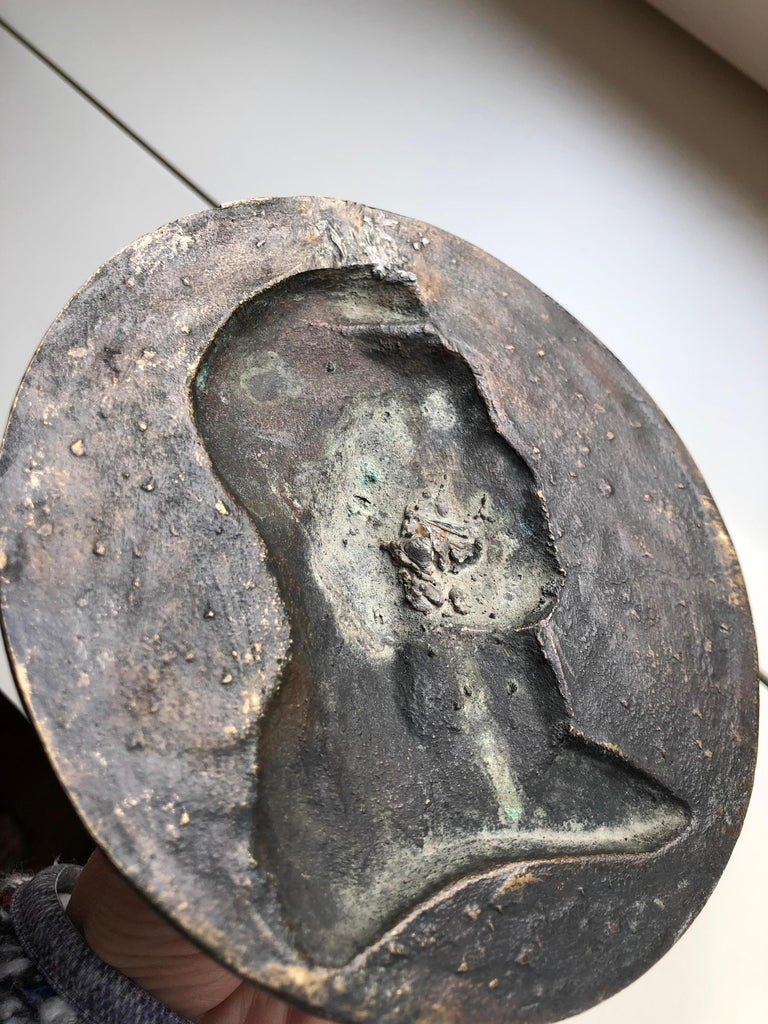 19th Century Bronze Medallion Signed by L.Noël in 1880 For Sale 2