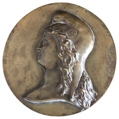 19th Century Bronze Medallion Signed by L.Noël in 1880