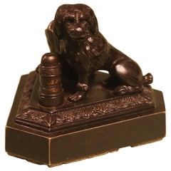 19th Century bronze Model of a Seated Spaniel