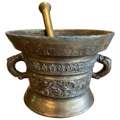 19th Century Bronze Mortar Pestle