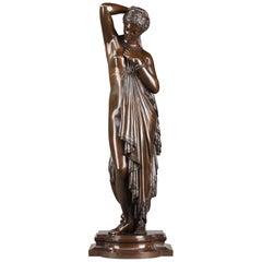 19th Century Bronze Phryné by James Pradier, 1790-1852