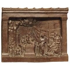 19th Century Bronze Plaque, The Legend of Gaius Mucius Scaevola