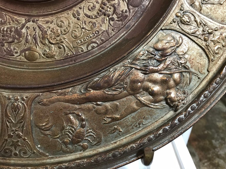 19th Century Bronze Plate on Acrylic For Sale 6