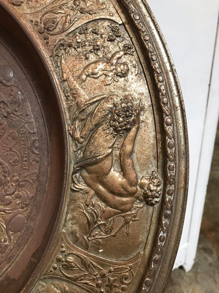 19th Century Bronze Plate on Acrylic For Sale 7