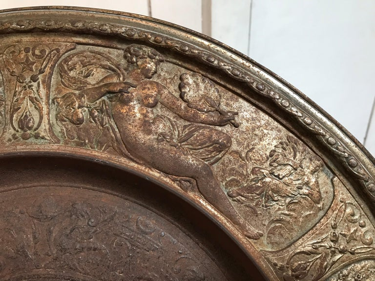 19th Century Bronze Plate on Acrylic For Sale 3