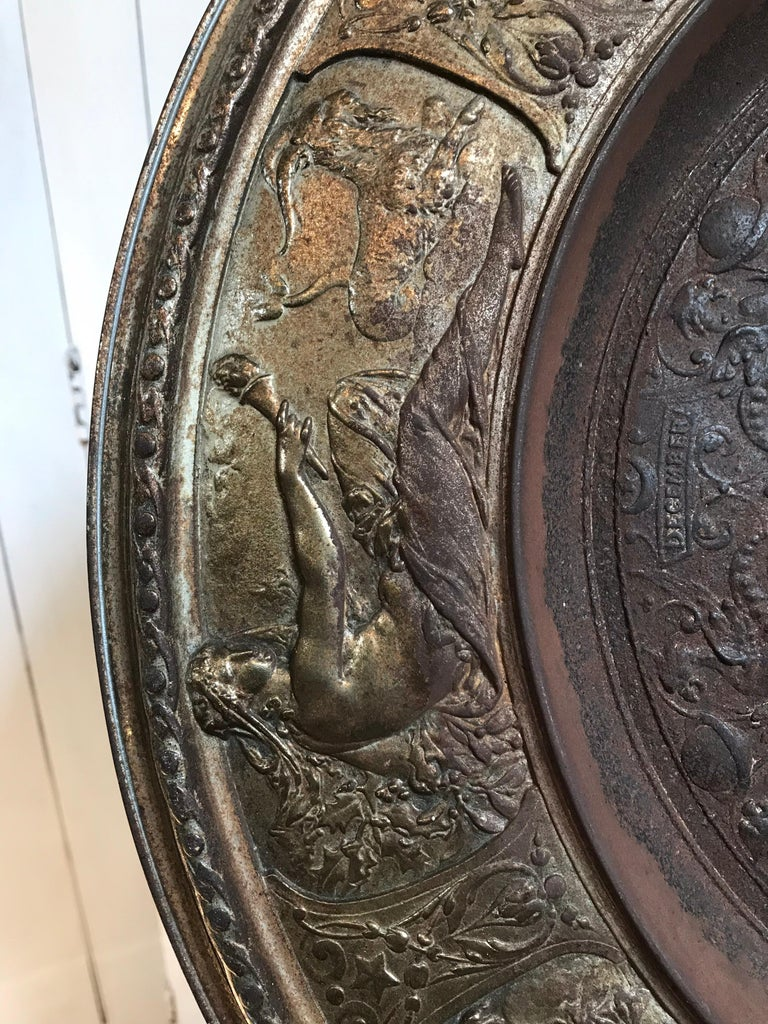 19th Century Bronze Plate on Acrylic For Sale 4