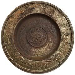 19th Century Bronze Plate on Acrylic