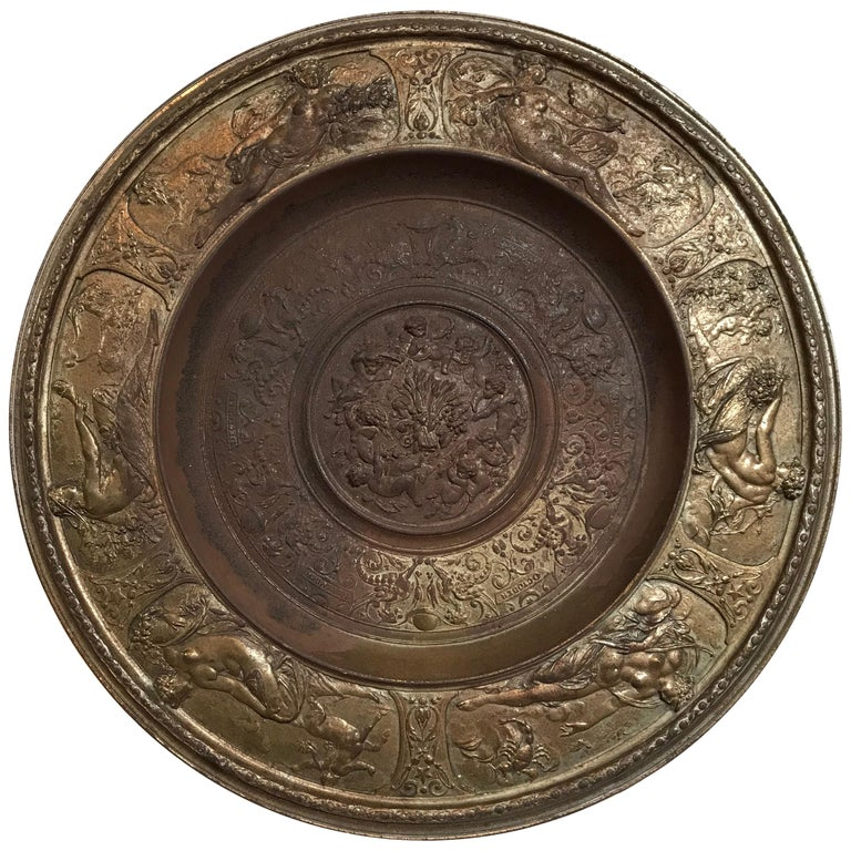 19th Century Bronze Plate on Acrylic For Sale