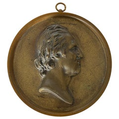 Rare 19th Century Bronze Portrait Medallion of George Washington