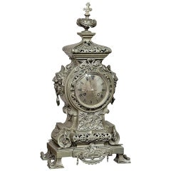 19th Century Bronze Renaissance Napoleon III Period Mantel Clock