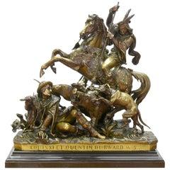 19th Century Bronze Sculpture by J.F.T Gechter Representing Quentin Durward