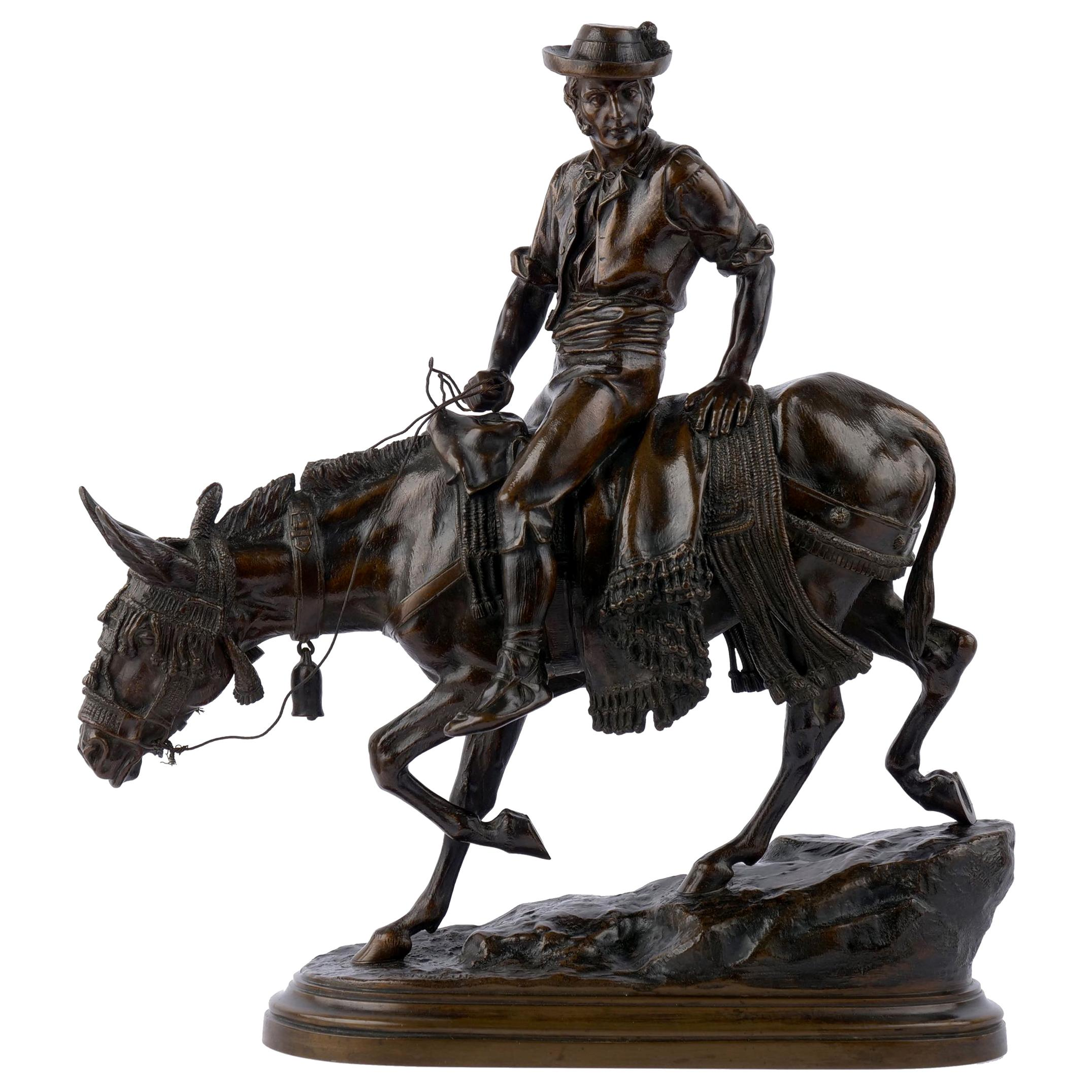 19th Century Bronze Sculpture of a Spanish Rider by Isidore Bonheur