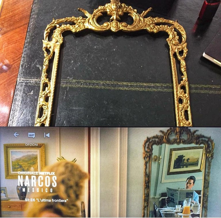 19th Century Bronze Spanish Mirror Frame Netflix Serie For Sale 4