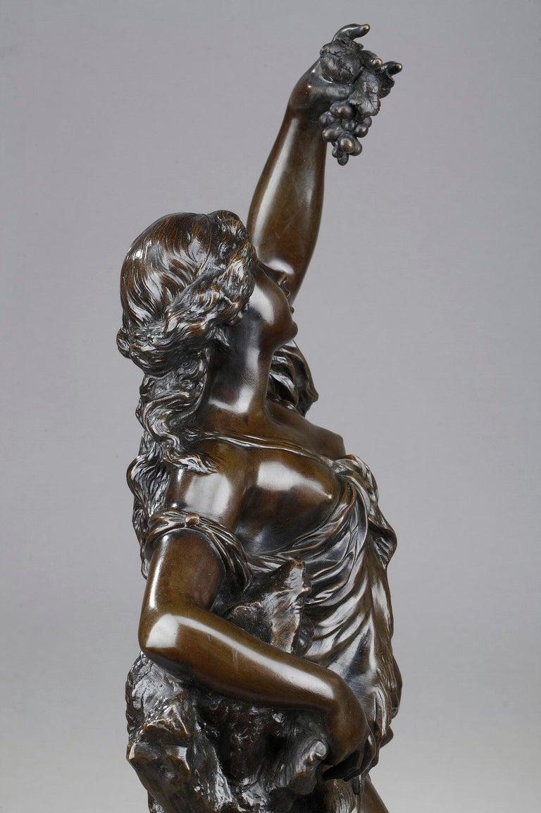 19th Century Bronze Statue: Bacchante For Sale 4