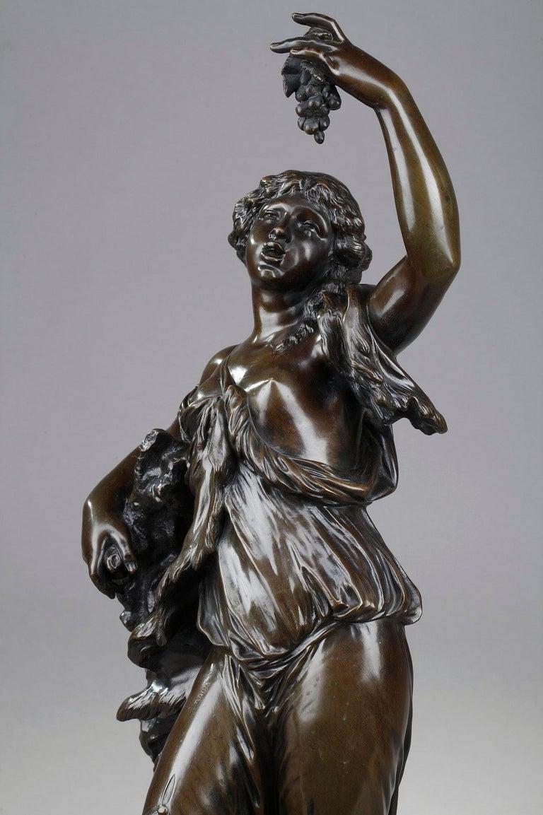 19th Century Bronze Statue: Bacchante For Sale 6