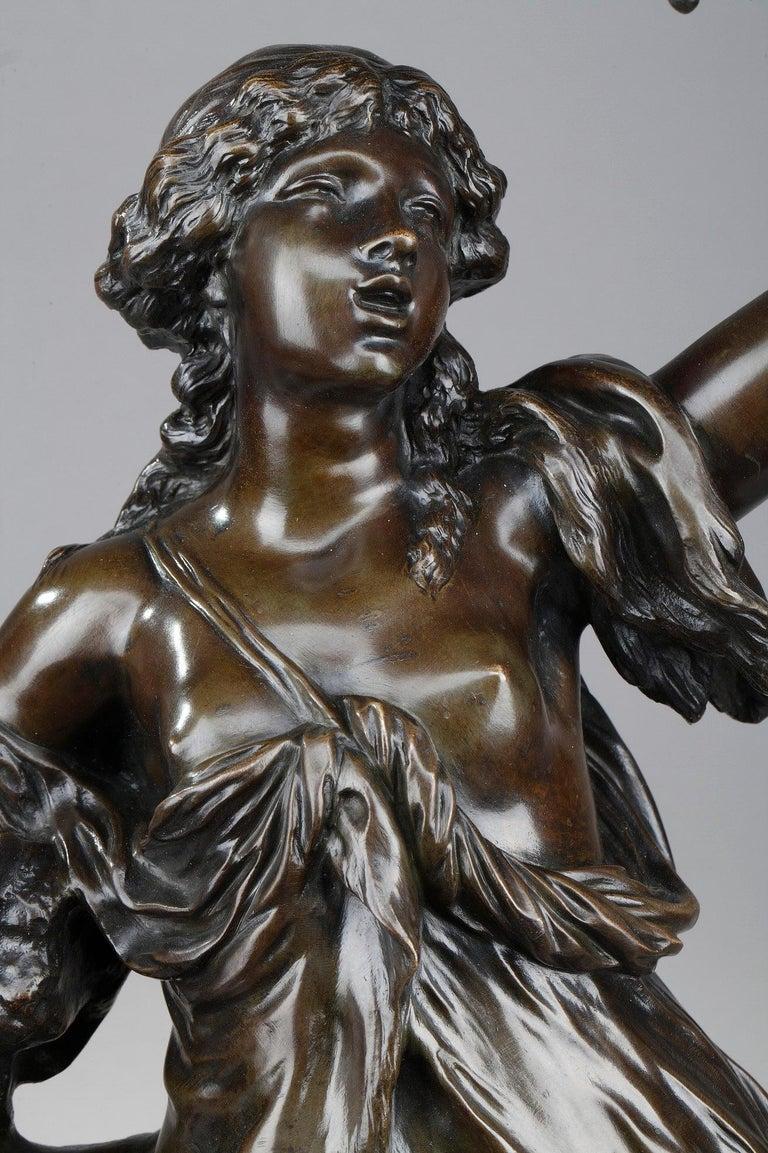 19th Century Bronze Statue: Bacchante For Sale 7