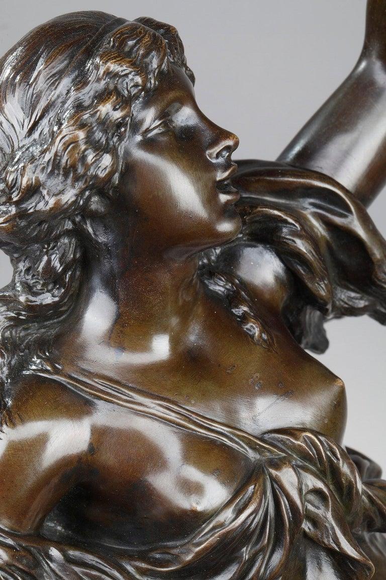 19th Century Bronze Statue: Bacchante For Sale 8